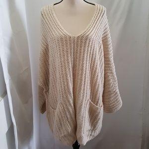 Free People Women's Beige Pullover Sweater Sz: S